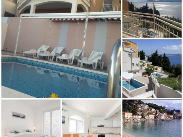 Mimicebay apartments with pool in Mimice near Omis  Dalmatien